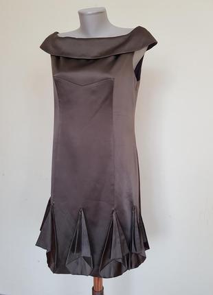 Шикарное вечернее коктейльное платье шёлк karen millen2 фото