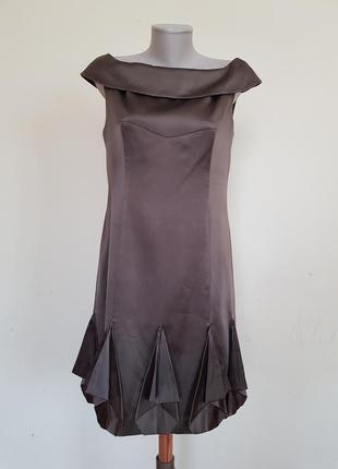 Шикарное вечернее коктейльное платье шёлк karen millen1 фото
