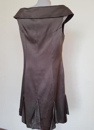 Шикарное вечернее коктейльное платье шёлк karen millen6 фото