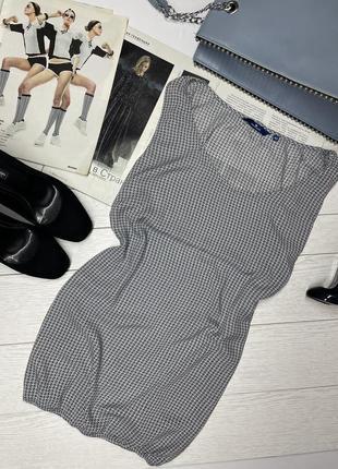 Летняя лёгкая воздушная брендовая блуза на резинке в принт xl блузка на лето