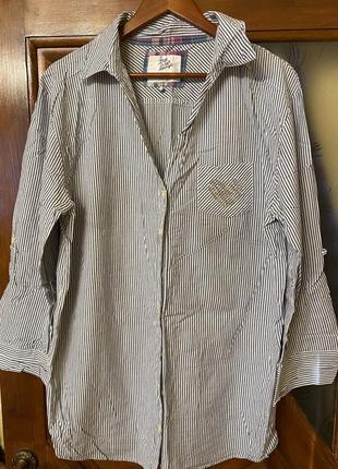 Хлопковая удлиненная рубашка