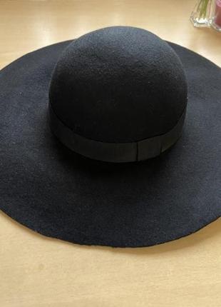 Шляпа фетровая чёрная