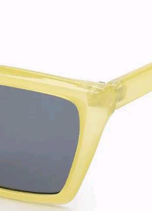 Очки topman  приглушенно лимонно-желтые прямоугольной формы2 фото