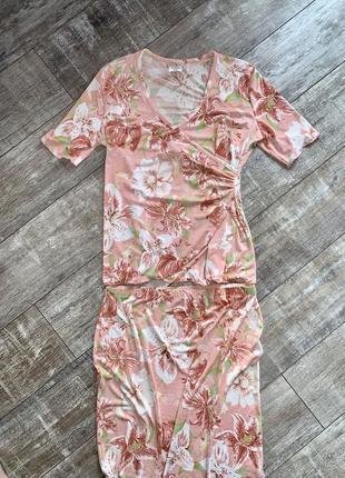 Комплект костюм футболка юбка kim & co xxl канада