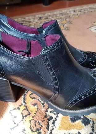 Женские кожаные туфли ботильоны tamaris
