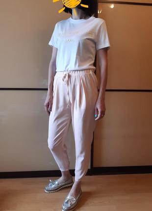 Повседневные, летние,  спортивные  штаны, брюки нюдового цвета miss selfridge
