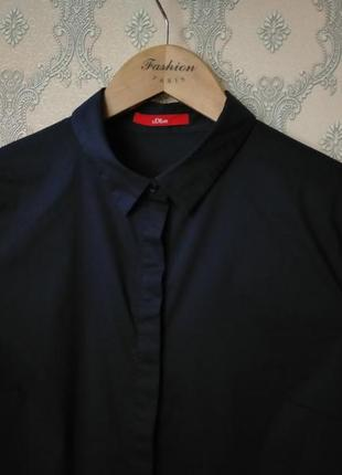Женская темно-синяя рубашка блуза от s.oliver