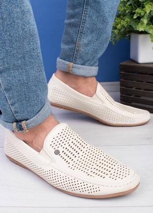 Мужские летние туфли с перфорацией5 фото