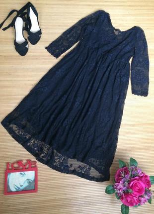 Стильное гипюровое платье,размер xl