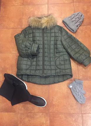 Супер тёплая зимняя куртка/ l
