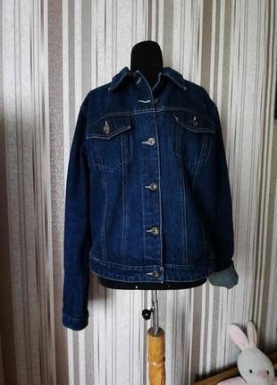 Джинсовая куртка оверсайз в состочнии новой