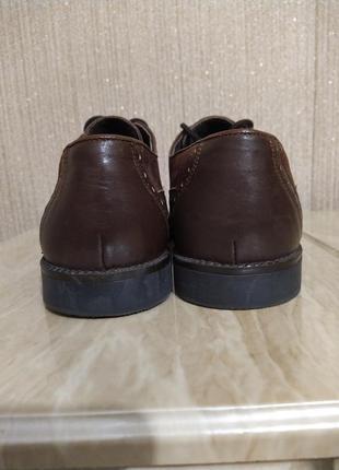 Туфли оксфорды коричневые4 фото