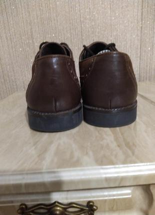 Туфли оксфорды коричневые3 фото