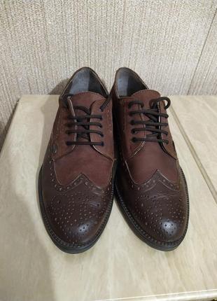 Туфли оксфорды коричневые1 фото