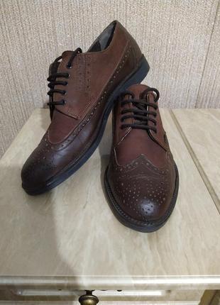 Туфли оксфорды коричневые2 фото