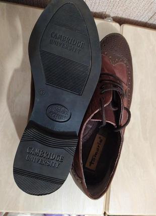 Туфли оксфорды коричневые7 фото