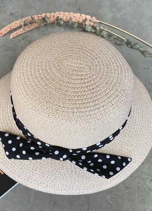 Соломенная шляпа с полями средней ширины lilit в бледно-розовом цвете