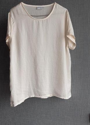 Стильная светло- молочная блуза