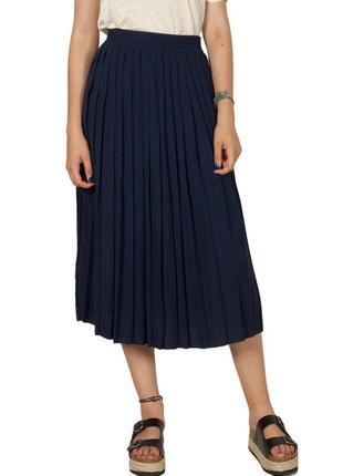 Плиссировая юбка миди plus size размера💙