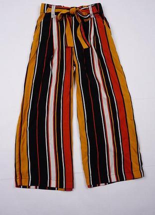 Брюки, штаны женские кюлоты свободные от zara  в полоску xxs,xs,s 32,34,36 4 6,8