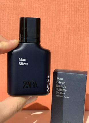 Мужские духи zara silver /чоловічі парфуми /туалетна вода /парфюм2 фото