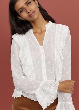 Ніжна рожева блуза з рюшами в стилі бохо від h&m з свіжих колекцій 💫