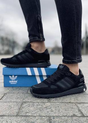 Кросівки adidas zx 750 black 💣💣✅
