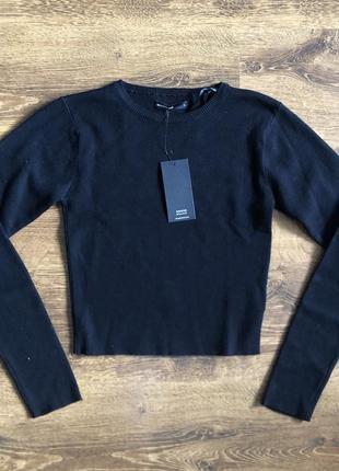 Укорочений светр укорочённый свитер house кроп свитер кофта водолазка