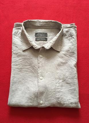 Шведка рубашка с коротким рукавом лён р. xl