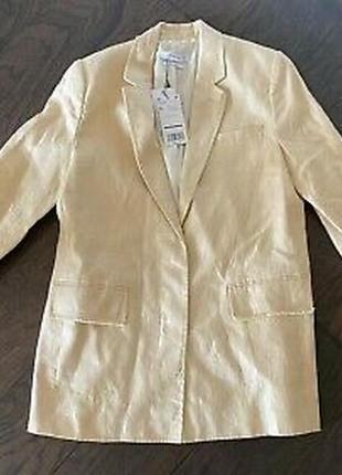 Льняной пиджак манго, пиджак летний mango