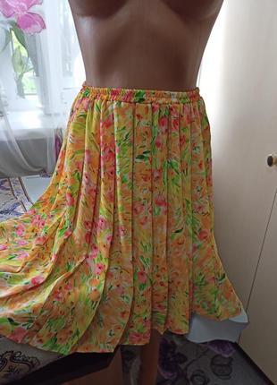 Пышная летняя юбка плиривока
