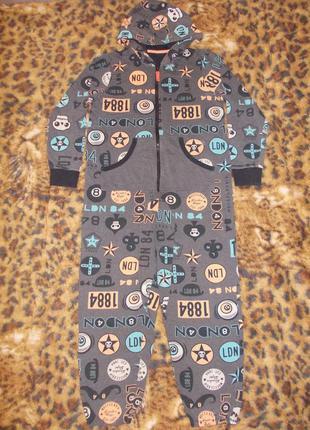 Пижама кигуруми слип человечек ромпер на 11-12 лет рост 146-152 см