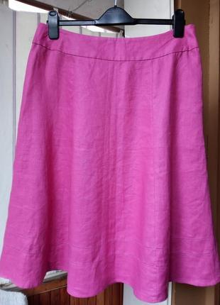 100%лен юбка  с мережкой  laura ashley
