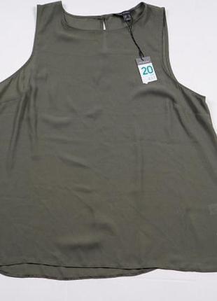 Стильная блуза женская шифоновая майка 20, 22 3xl, 4xl 46, 48