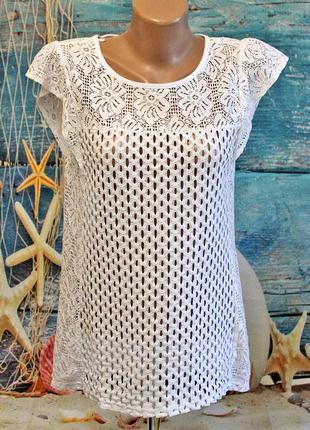 Ажурная блузка next размер 14-12