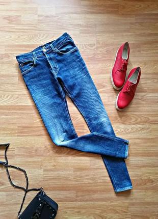 Женские фирменные плотные классические джинсы lee - размер 44