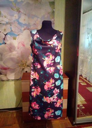 Платье летнее яркое р 48