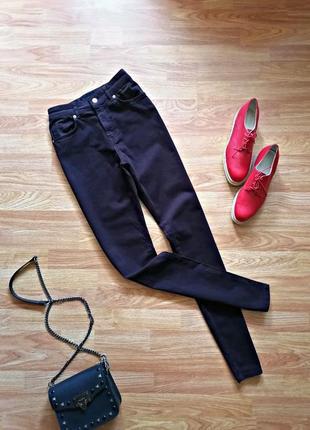 Женские джинсы - скинни на высокой посадке - размер 42-44