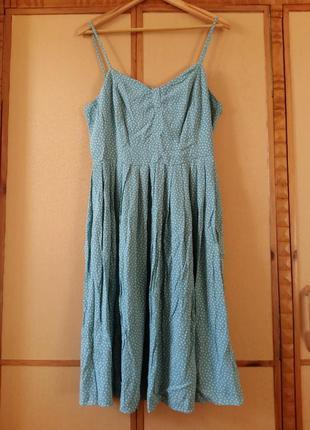 Женственное летнее платье вискоза