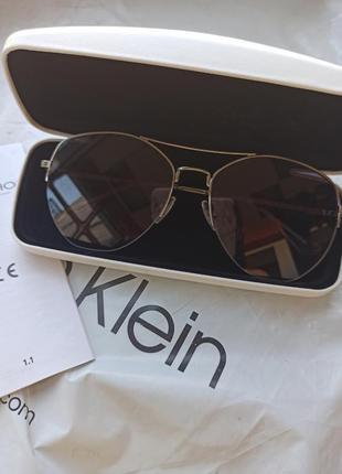 Стильные очки авиаторы calvin klein оригинал8 фото