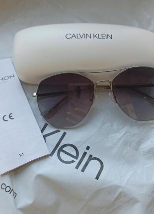 Стильные очки авиаторы calvin klein оригинал5 фото