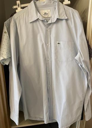 Сорочка рубашка lacoste 41 оригинал