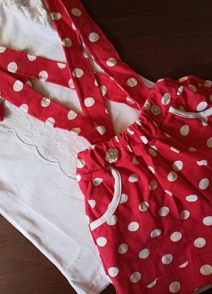 Комплект футболка и шорты на подтяжках