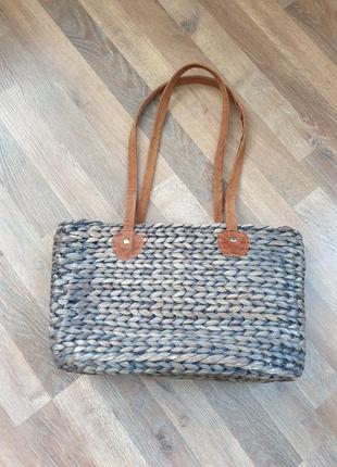 Соломенная сумка, пляжная сумка