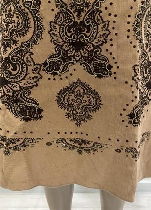 Zebra 🧡вільветова юбка)вельветовая юбка длинны миди в абстрактный принт3 фото