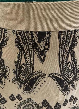 Zebra 🧡вільветова юбка)вельветовая юбка длинны миди в абстрактный принт5 фото