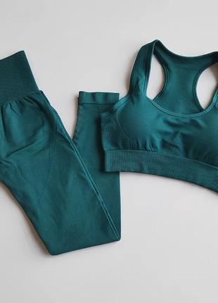 Женский комплект для фитнеса и йоги размер хs - s