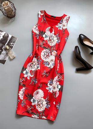 Роскошное платье миди батал