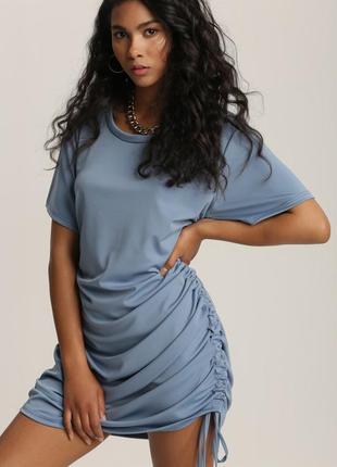 Платье - футболка летнее голубое