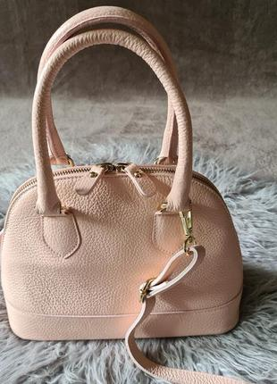 Женская кожаная сумка  сумочка borse in pelle